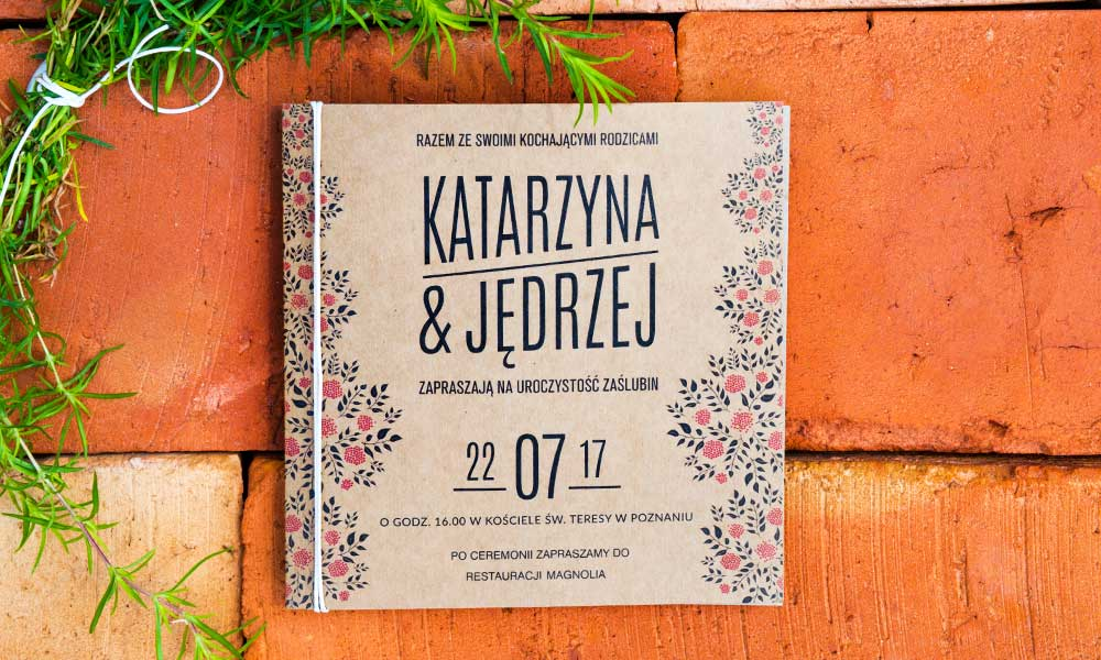 Eko Zaproszenia ślubne U Nas Znajdziesz Piękne Zaproszenia Na