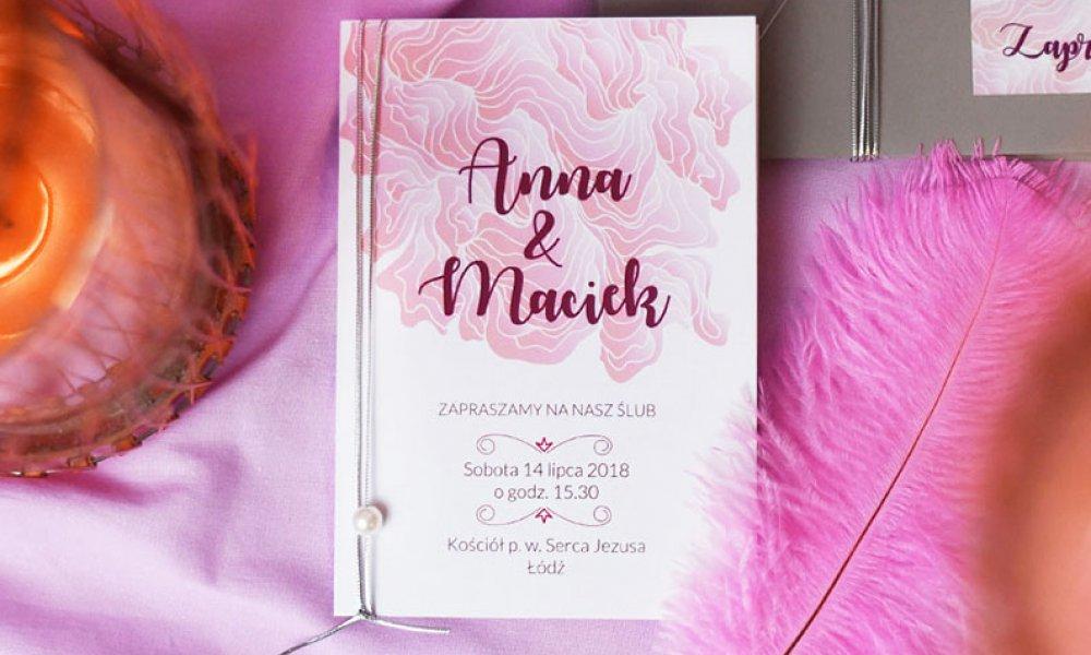 Nasze Zaproszenia ślubne Blog U Nas Znajdziesz Piękne
